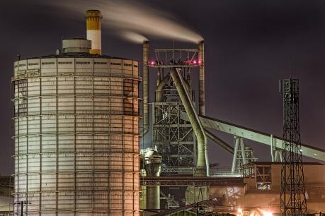 鹿島臨海工業地帯の高炉夜景