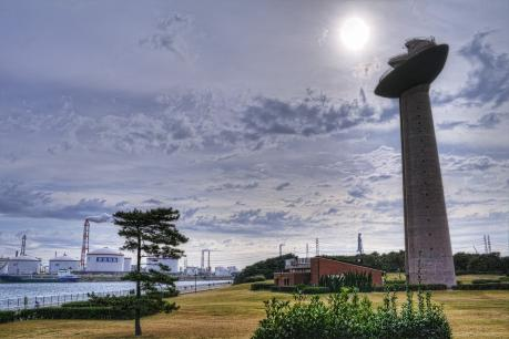 鹿島臨海工業地帯の港公園展望塔