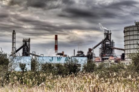 鹿島臨海工業地帯の高炉