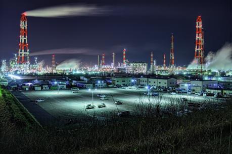 鹿島コンビナートの夜景