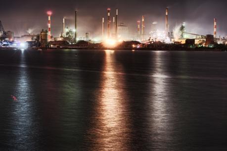鹿島製鉄所の夜景