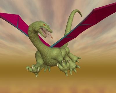 3D西洋ドラゴン画像11121