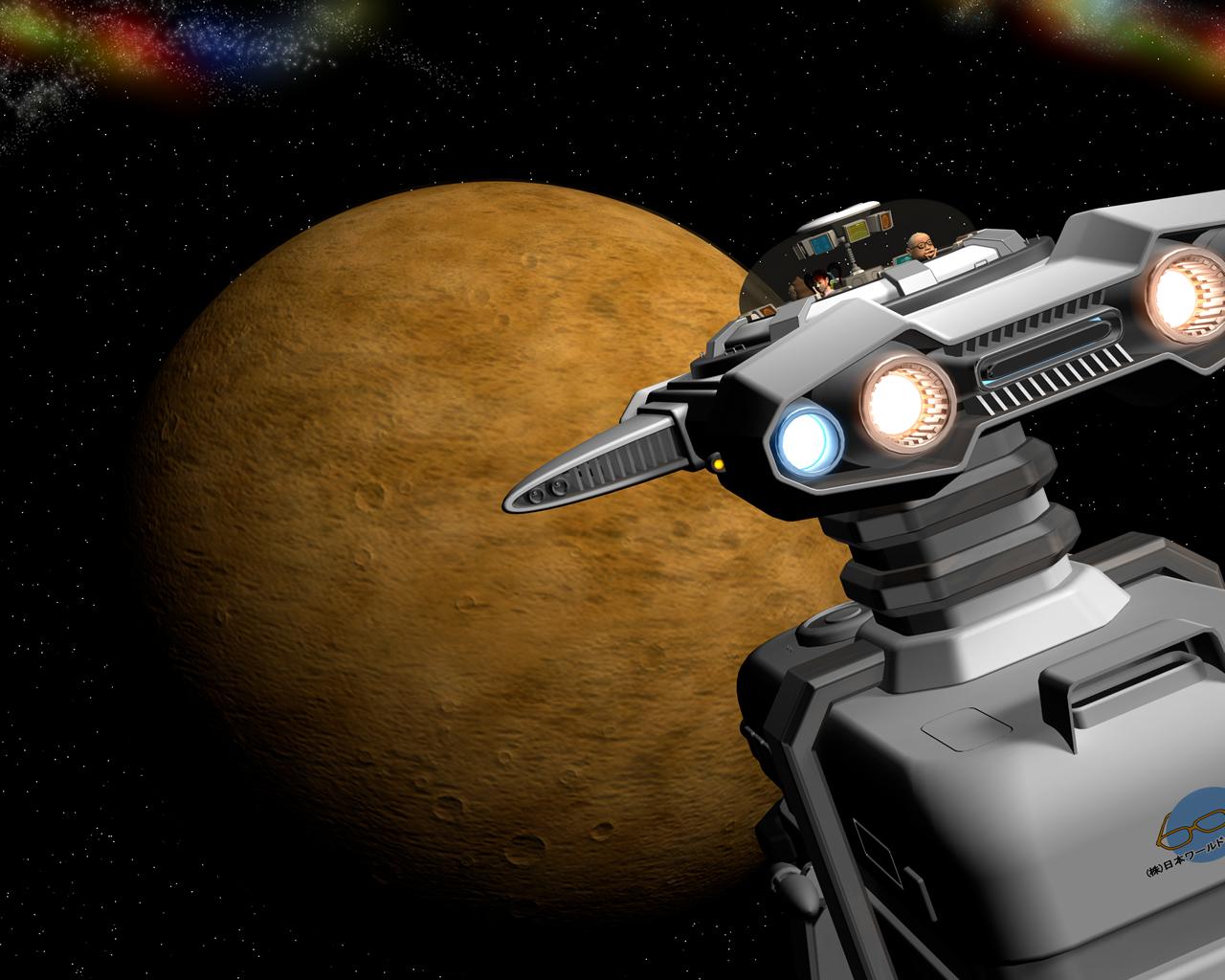 3D宇宙船と惑星1203091