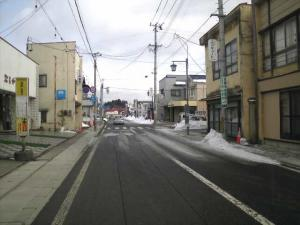 23年1月19日、閑古鳥鳴く千厩商店街。