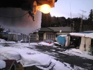 23年1月29日。氷の芸術。東北の夕方。