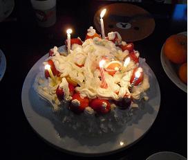 2009 ローソクケーキ