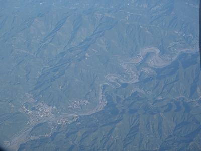 航空写真 蛇行する川20110429