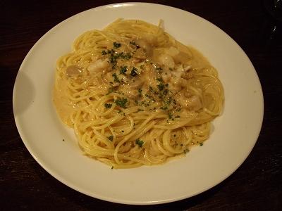 帆立貝柱のスパゲッティ20110402