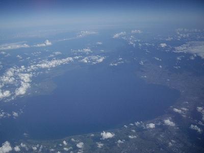 琵琶湖上空1-20110828