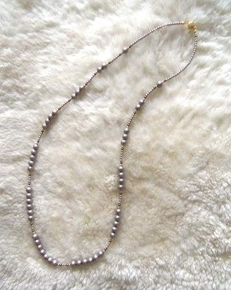 樹脂パールのネックレス