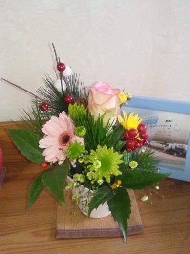 リビングお花
