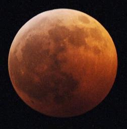 北海道釧路市で観測された皆既月食