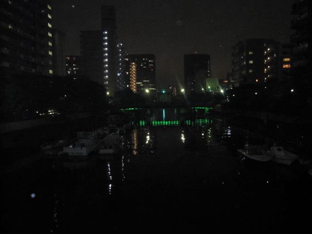 月島川の夜景