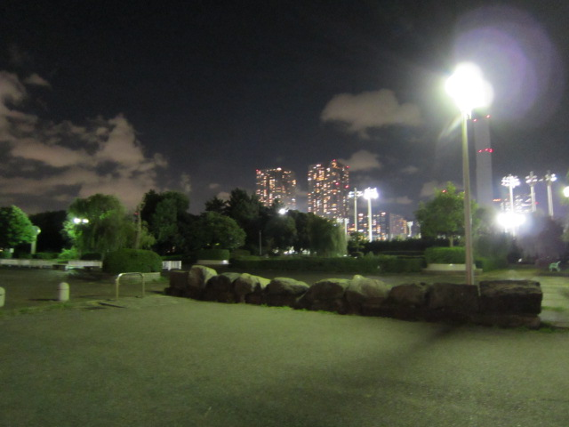 夜の晴海埠頭の先あたりの2枚目