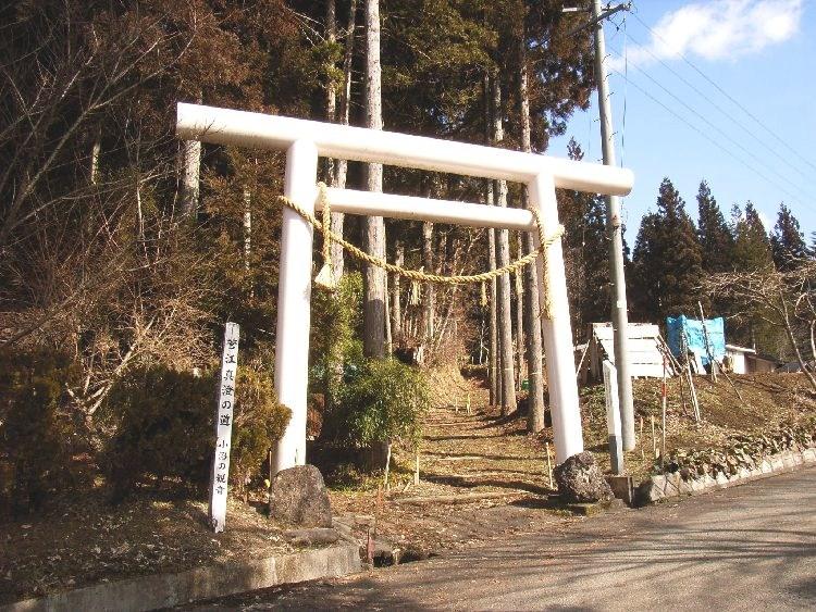 小沼神社参道入り口の鳥居
