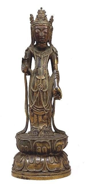 蝋型鋳造による小金銅仏(法隆寺献納宝物)