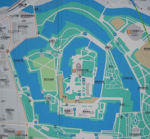 大阪城地図