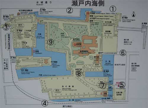 高松城地図