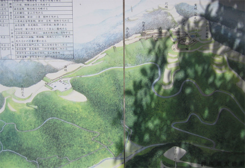金山城俯瞰図