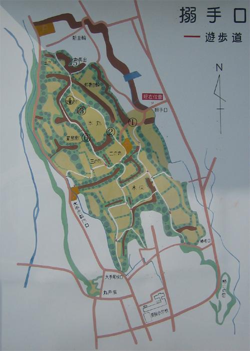 箕輪城地図