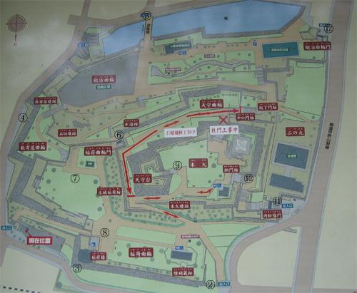 甲府城地図
