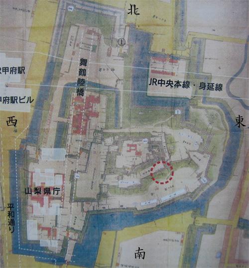 甲府城古図