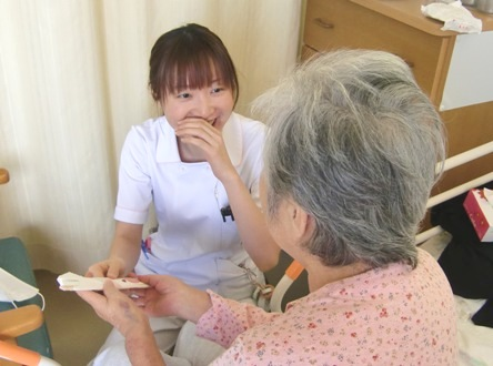 患者さまも看護師さんも思わず笑顔