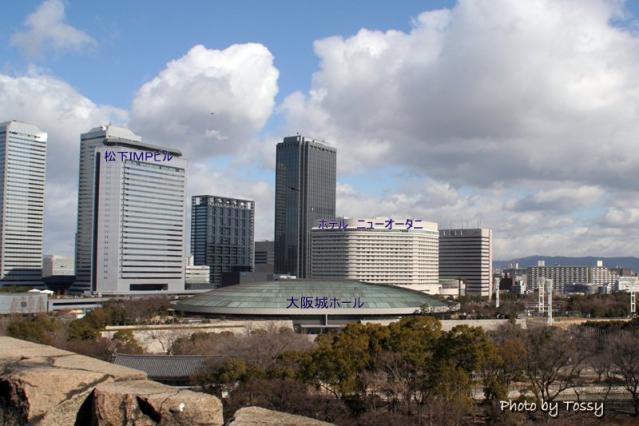 大坂城から見たビル群