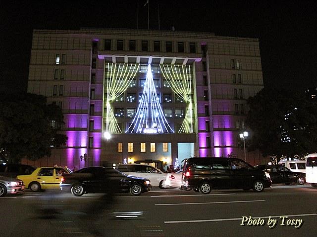 大阪市役所紫のイルミ