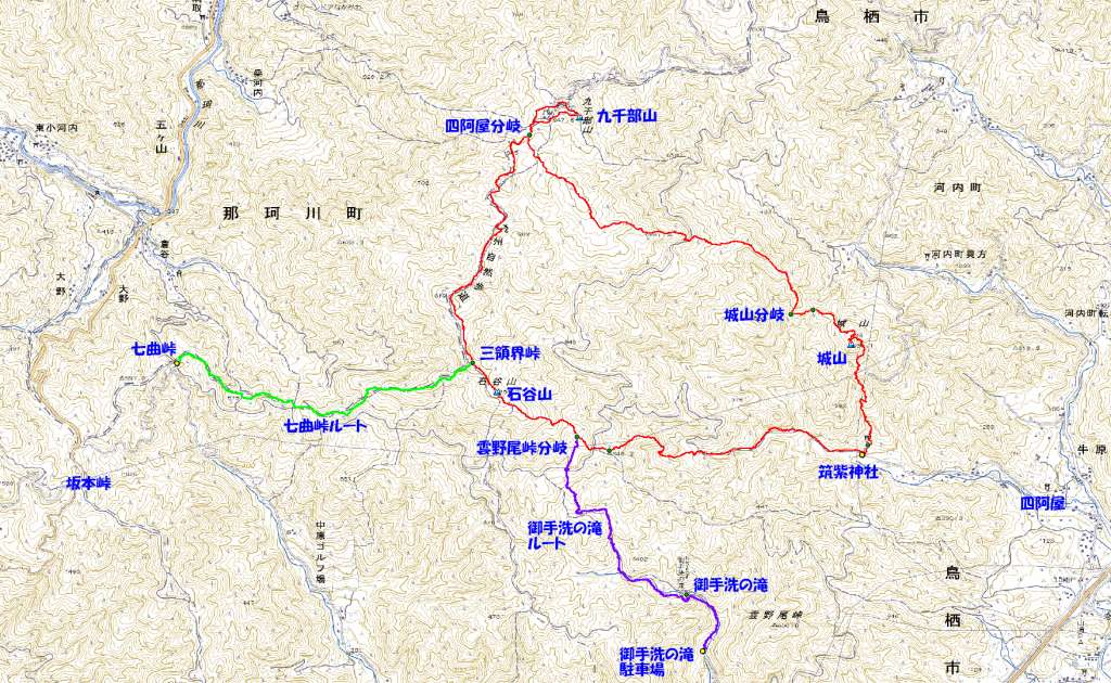 久留米発 ほぼ 週一・登山 九千部三山周回(2010.1.24)