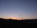 夜明 松尾川ほとりから