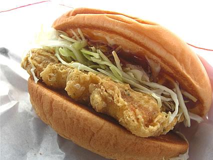 モスバーガー ごちそうツナバーガー マグロのフリッターさっぱり生姜醤油仕立て(320円)
