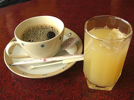 食事処 味喜や 食後のドリンク(コーヒー、りんごジュース)
