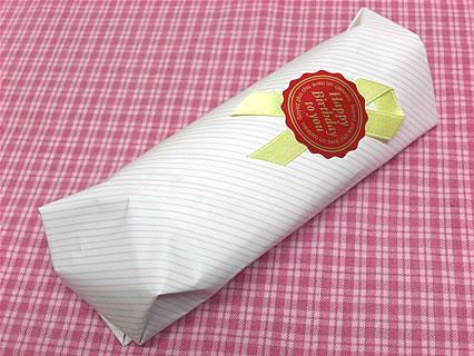 青い花のスウィートポテト 包装