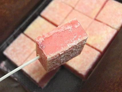 Patisserie verger(パティスリー ヴェルジェ) 苺の生チョコ 断面