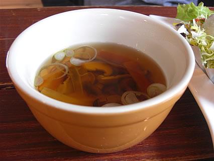Restaurant NORTH VILLAGE(レストラン・ノースビレッジ) 熟成ポークステーキプレート スープ