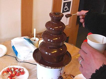 しかないせんべい チョコレートまつり チョコレートフォンデュ