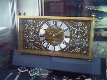 置き時計・真鍮
