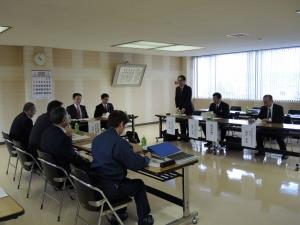 上ノ国町での懇談会