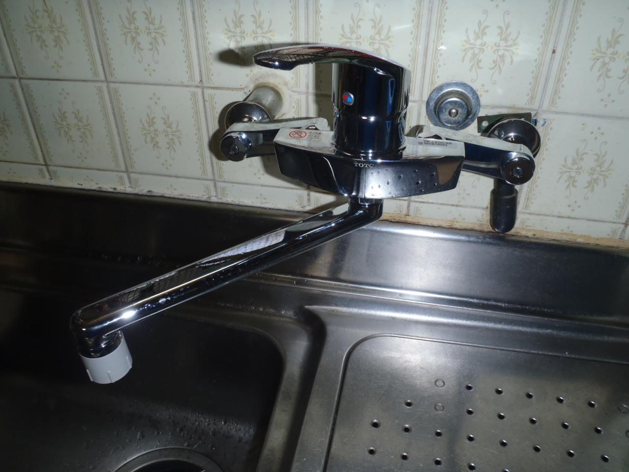 キッチン水栓 取替後