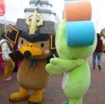 弘前市のユルキャラ たか丸 と友好を深めたかな