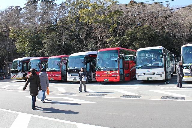 すごいバスの数