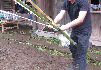 竹割りで青竹割り