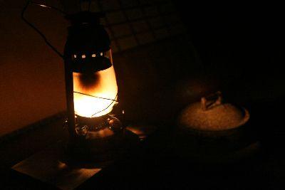 ランプの光