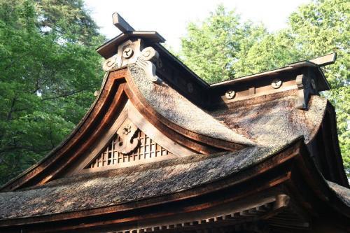金井加里神社本殿屋根
