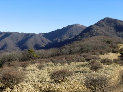 お気に入りの丘から荒山、地蔵岳