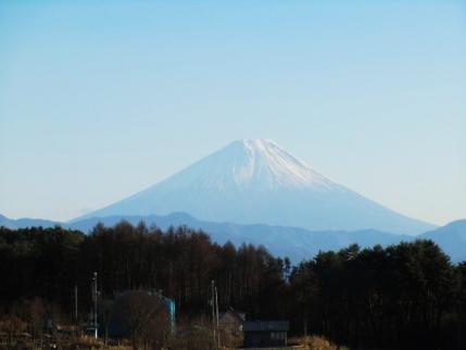 帰り道 明野からの富士山