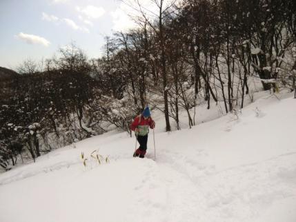 雪道挑戦の図1