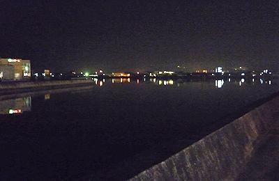 夜の松永湾