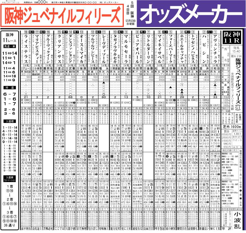 2010阪神JF確定